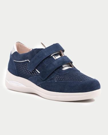 Zapatos de salón azul marino de piel